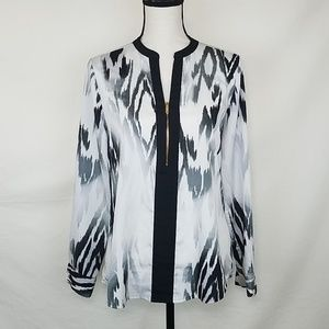 CALVIN KLEIN Long-Sleeved Top, Size M